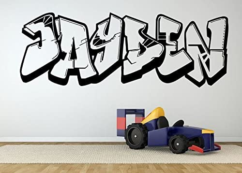 Wall Room Decor Art Vinyl Sticker Mural Decal Jayden Graffiti Baby Name Poster Kids Bedroom Playroom Nursery AS2701