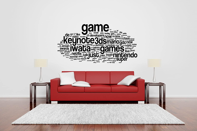 Wall Room Decor Art Vinyl Sticker Mural Decal Gamer Video Game Poster Nerd Quote Phrase Kids Playroom Bedroom Nursery AS2787