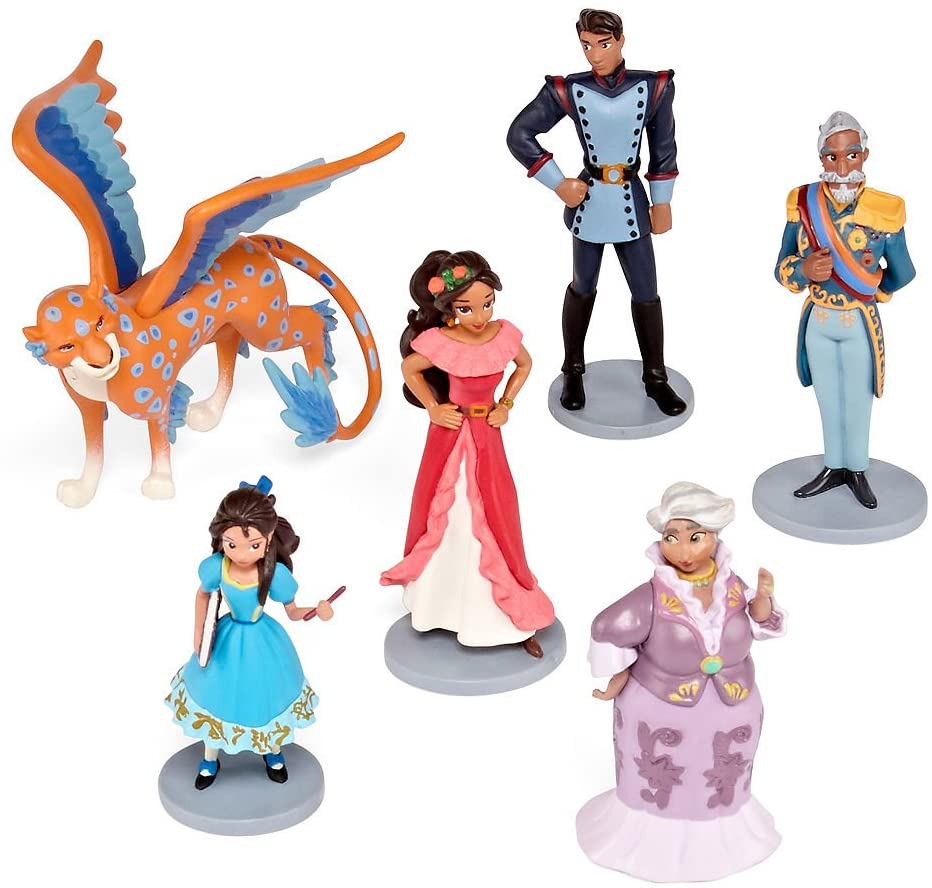 Disney Collection Princess Elena of Avalor 6 Piece Figurine Playset Figure Play Set With Skylar
