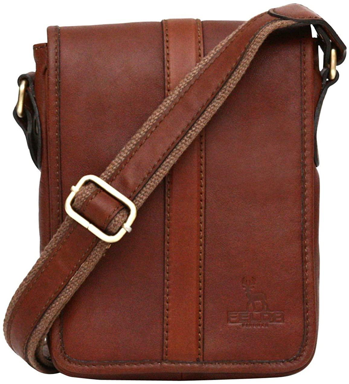 Genuine Leather Small Side Shoulder Bag Unisex Case Carry