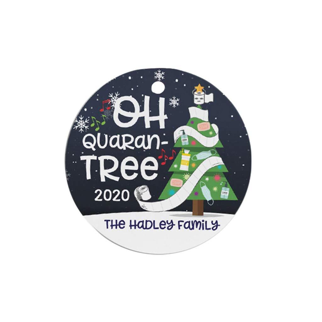 Becoler 2020 New Santa Wearing Mask - Christmas Tree Ornament, Funny Xmas Gift Limited Edition, Quarantine Xmas Gifts Presents, Tree Decoration Hilarious Fun