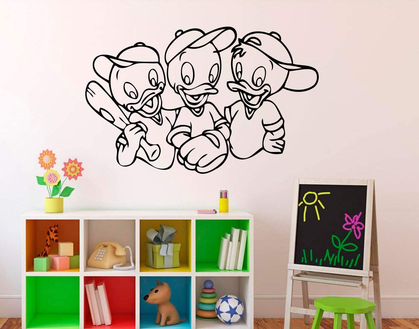Place Duck Tales Disney Wall Decal - Cartoons Wall Vinyl Sticker Uncle Scrooge Home Interior - Kids Children's Room Wall Graphics Made in USA - 12x15 Inch