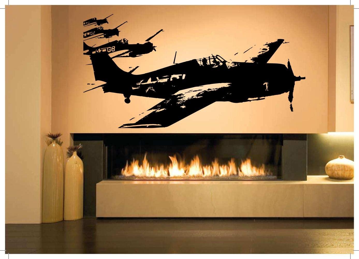 Wall Room Decor Art Vinyl Sticker Mural Decal Air Plane Jet Fighter Pilot Poster Boy Bedroom Nursery Playroom AS2804