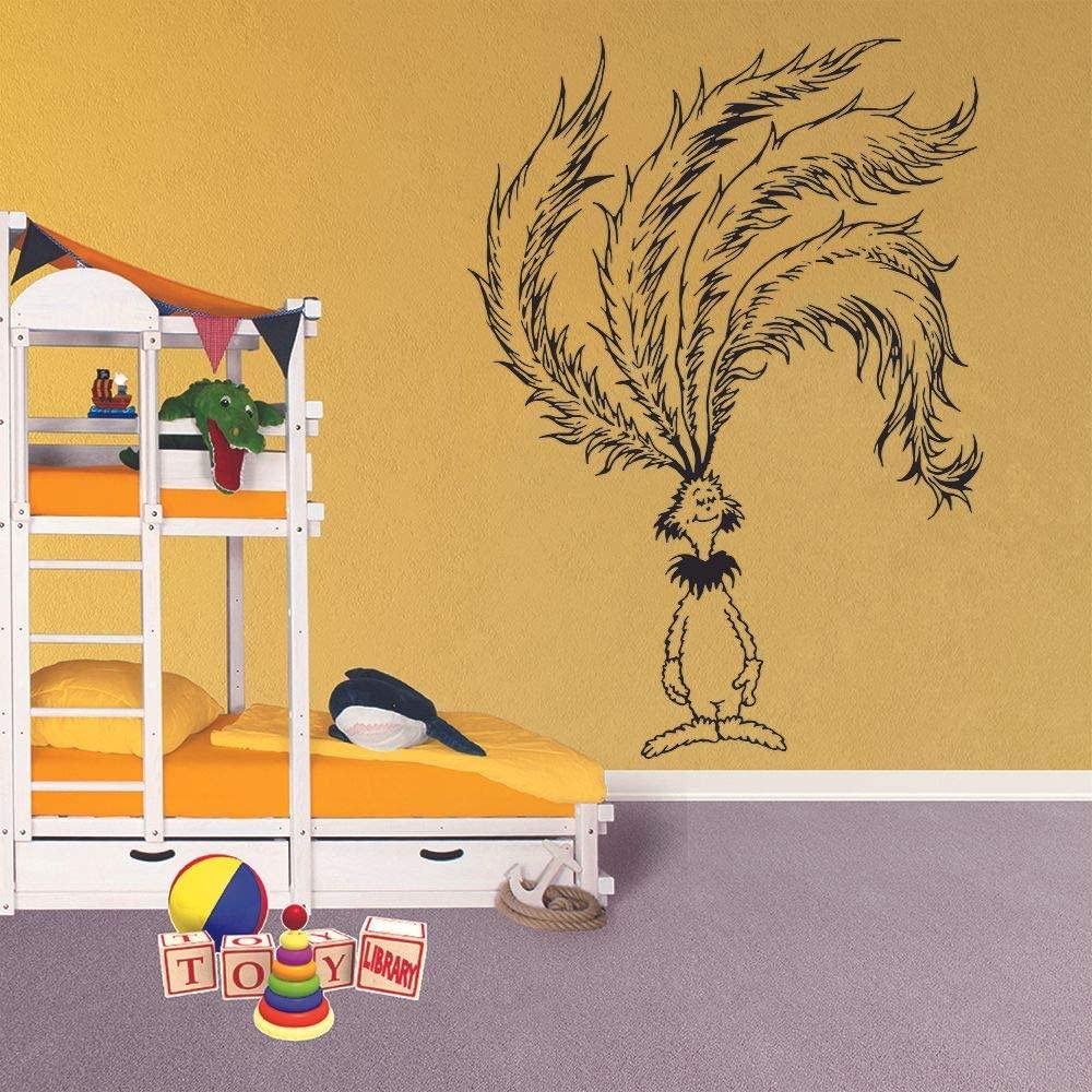Long Haired Pet Dr. Seuss Book Cartoon Character Wall Sticker Art Decal for Girls Boys Kids Room Bedroom Nursery Kindergarten House Fun Home Decor Stickers Wall Art Vinyl Decoration Size (20x18 inch)