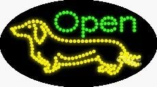Open LED Sign - 27 x 15 x 1 inches - Made in USA