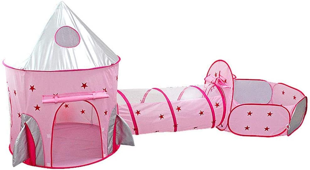 Voyoo Play Tunnel Garden Equipment Tent Baby Outdoor Toys -3-Piece Set of Children's Play Tent Portable Breathable Pop Up- Game House with A Storage Bag Crawling Tunnel
