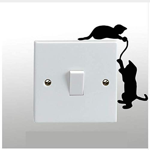 Cats Playing On A Light Switch Wall Sticker Art Decal Any Room Decor 3Pcs