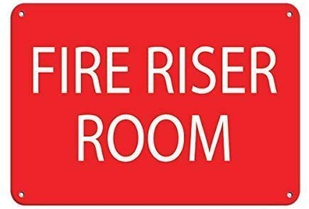 2 Pack adt Signs for Yard Personalized Metal Signs for Outdoors Fire Riser Room Hazard Sign Fire Sign Aluminum Metal Sign 12 X 16 Inch