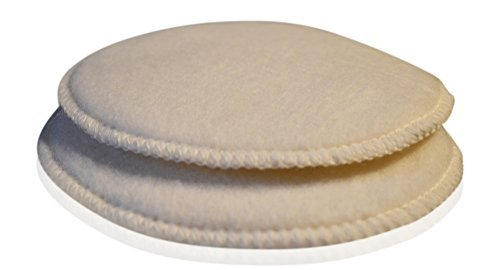 Soothingly Soft Merino Wool Nursing Pads, Style Softline, Size Small - 6 in. Diameter