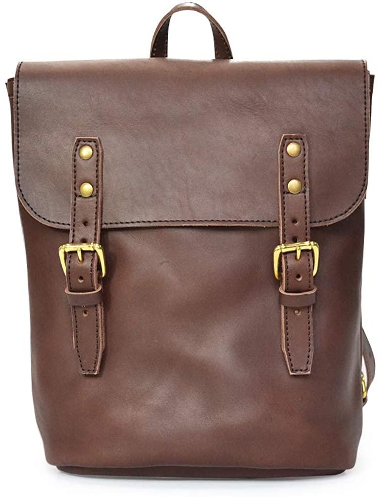 Marlondo Leather Rucksack - Womens Vintage Backpack, Medium - Handmade Full Grain Leather Day Pack