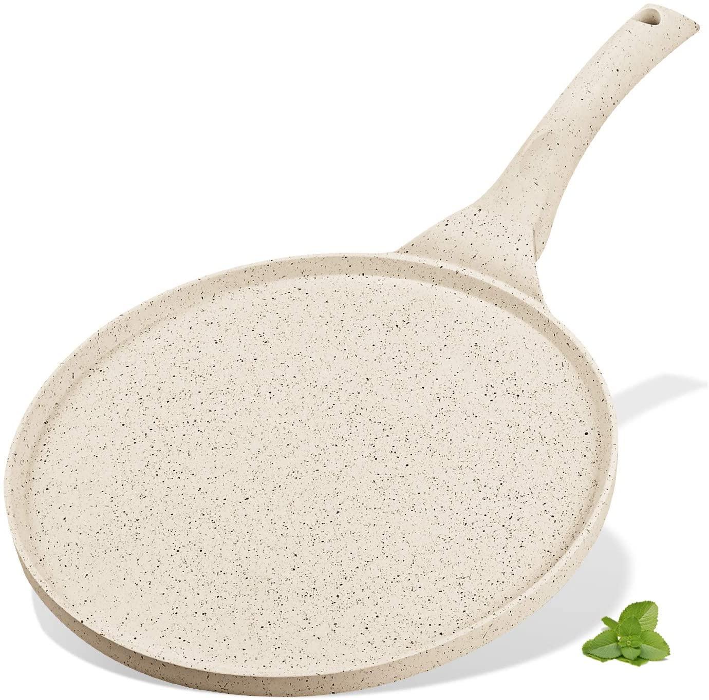 KUTIME Pancake Pan Blini Pan Griddle Non-stick Pancake Maker Fried Egg Cooker Swedish Breakfast Pan Skillet Frying Pan