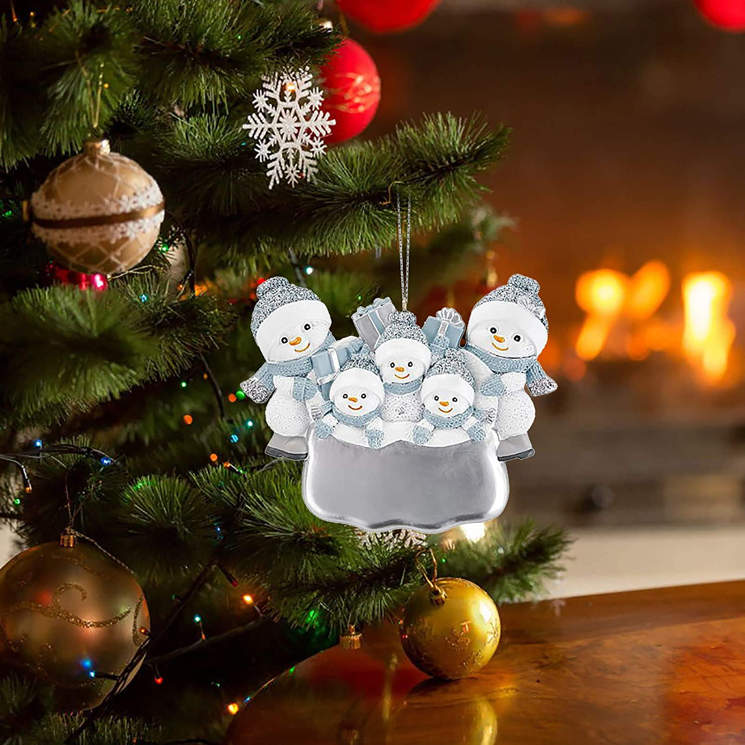 Personalized Christmas Ornament Ornaments for Christmas 2020 Family Gifts Resin Mask Snowman Christmas Tree Hanging Pendant