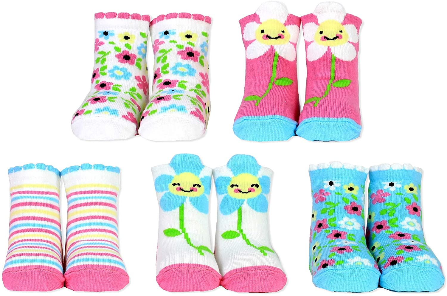 Cucamelon Daisy 5 Pairs of Socks 1-2 Years Toddler Giftboxed