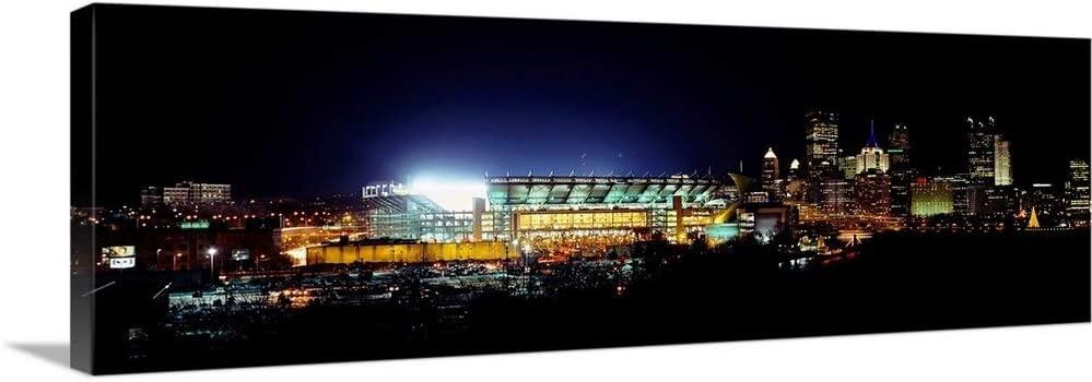 CANVAS ON DEMAND Stadium lit up at Night in a City, Heinz Field, Three Rivers Stadium, Pittsburgh, Pennsylvania Ca.