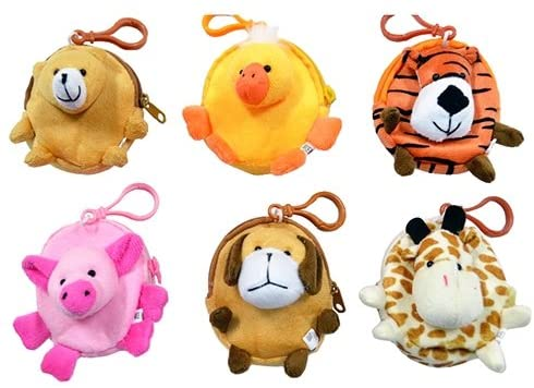 SmallToys Animal Back Pack Coin Purse - 12 per pack