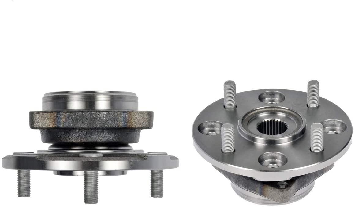 Detroit Axle - Front Wheel Bearing and Hub Pair for 2.2L Honda Accord 1990-1997