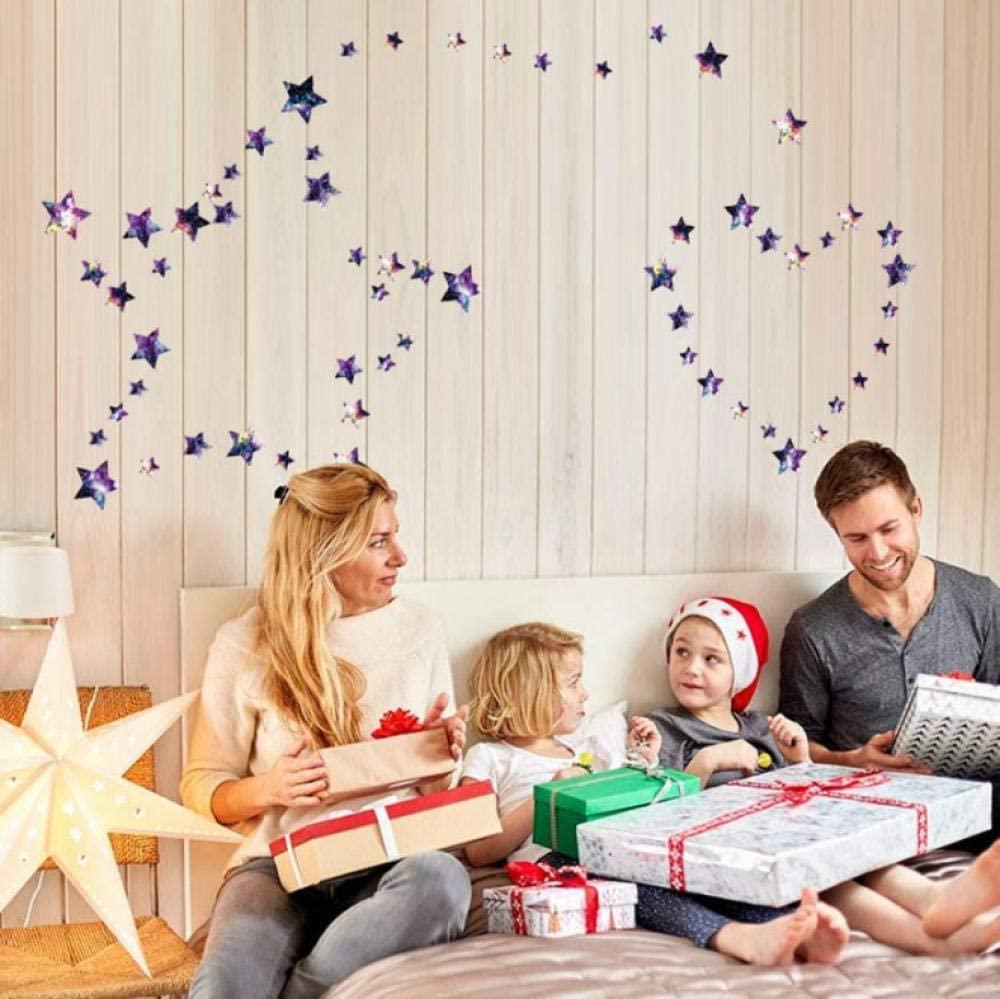 dsajgker Wall Sticker Removable Stars Pattern Vinyl Wall Decals Window Stickers for Kids Room Home Art Decor
