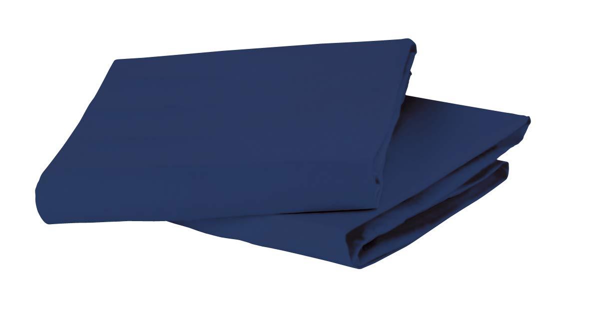 Bloom Us Standard Size Crib Organic Fitted Sheet Set, Navy Blue