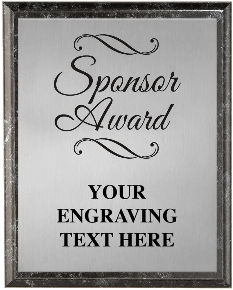 Corporate Plaques - 5 x 7 Etched Recognition Trophy Plaque Awards