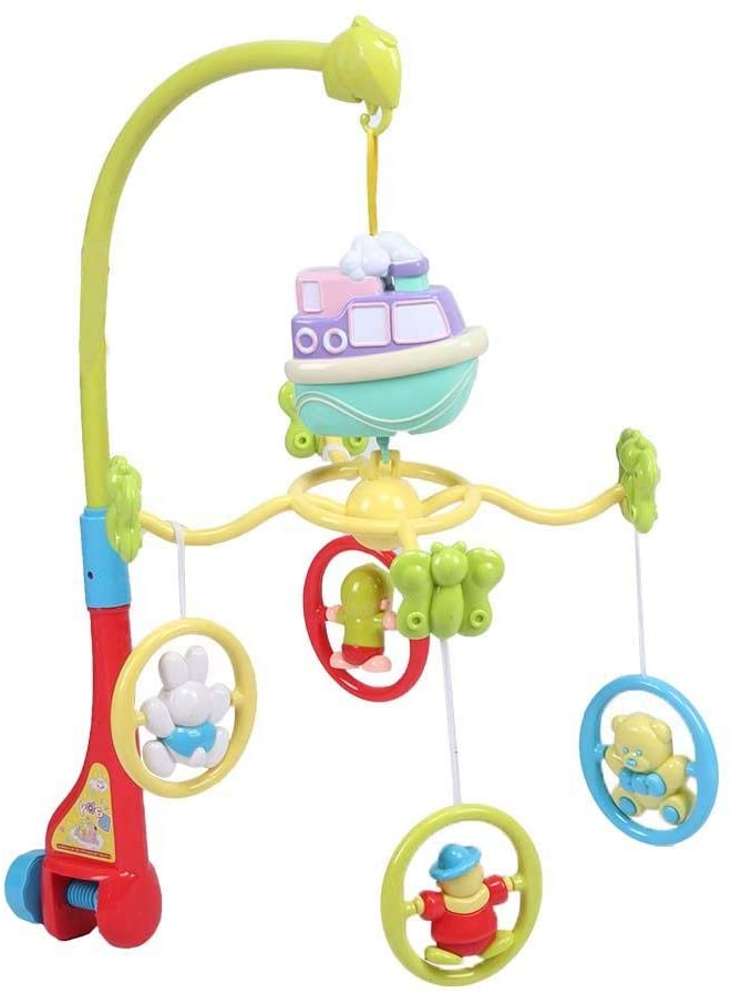 eecoo Infant Baby Bed Bell Hanging Rotating Rattles Bed Bell Sleep Comfort Toys for 0-1 Year Baby (322-1)