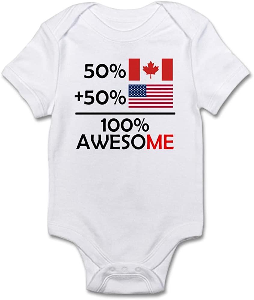 CafePress Half Canadian Half American Body Baby Bodysuit