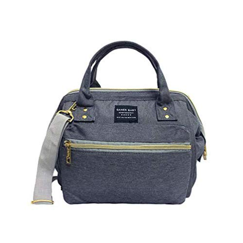 Mini Concise Tote and Crossbody Diaper Bag,Mini Easily-accessible Opening Daily Use Baby Nappy Bag,Handy Waterproof On the Go Bag