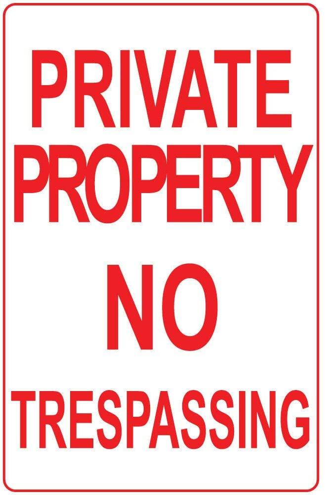 Private Property No Trespassing Vinyl Sticker Decal 8