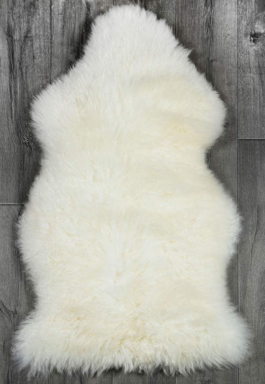 Genuine Sheepskin Rug Fur Natural Ivory White Sheep Skin 2 X 3 Approx, Australian Sheepskin Fur Rug