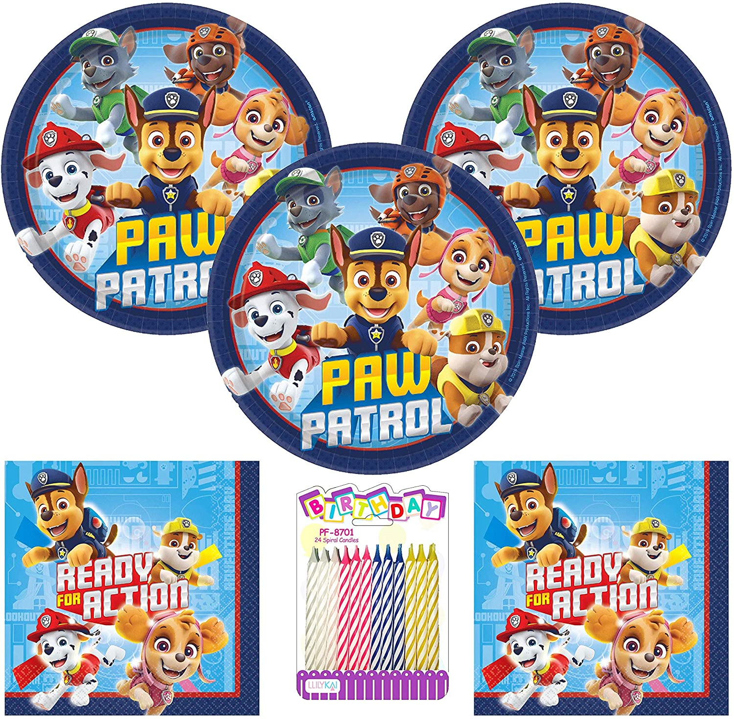 Paw Patrol Party Supplies Pack Serves 16: 7