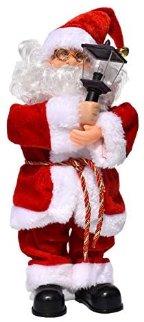 WYFLL Electric Santa Claus Doll Playing Musical Instrument Toys, Singing Santa Claus Xmas Plush Toy, for Children Kids Christmas Decoration Lift The Palace Lantern