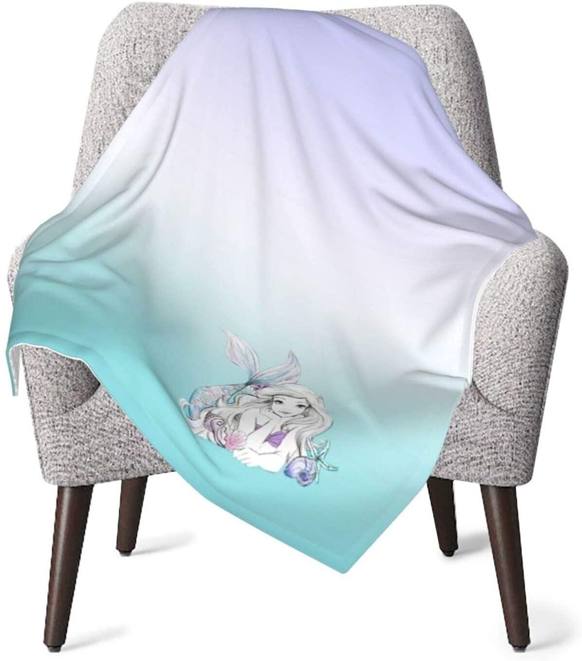 Blanket for Baby Boy Or Girls-Little Cute Mermaid Thermal Baby Blanket Toddler Nap Mat Bed Blankets-Throw Blanket Travel Blanket Pet Blanket Sleeping Blanket Pad 76x101cm