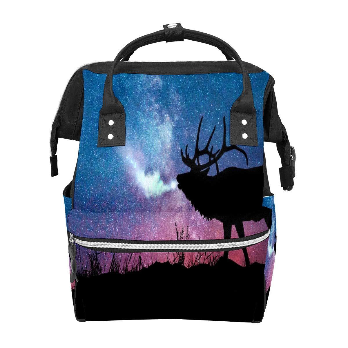 Diaper Bag Backpack Art Visual Deer Creativity Multifunction Travel Back Pack Baby Changing Bags Large Capacity Waterproof Stylish