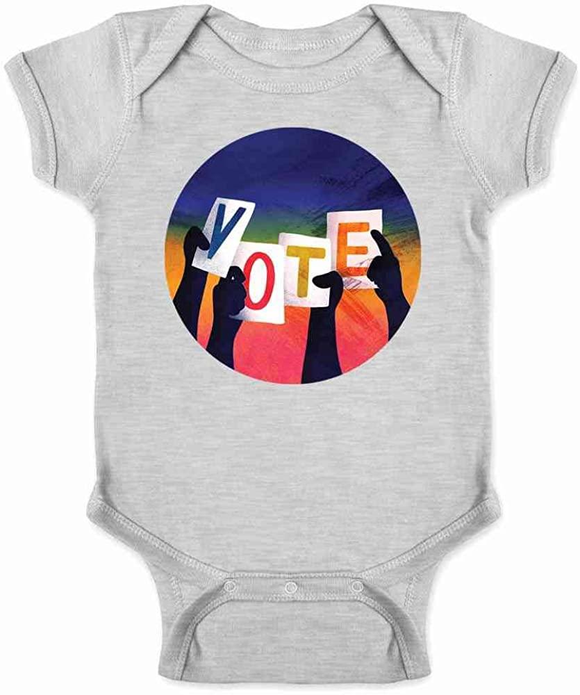 Pop Threads Vote by Kelly Rosen Election I Voted Voter Infant Baby Boy Girl Bodysuit