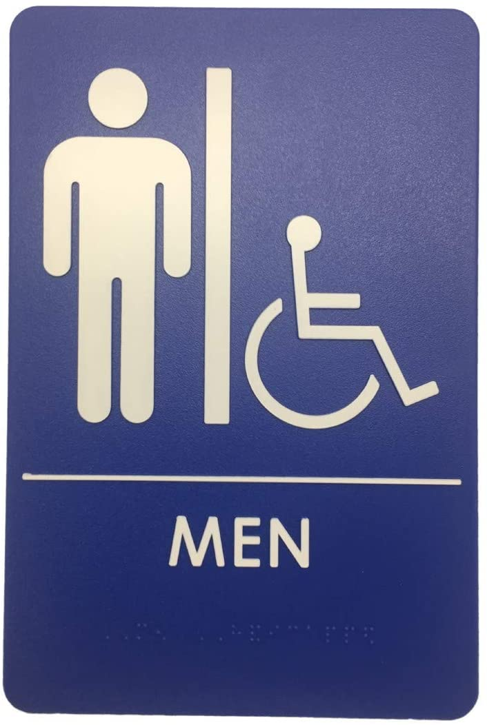 Men's Restroom Signs, ADA-Compliant Bathroom Door Signs for Offices, Businesses, and Restaurants | Made in USA (12)