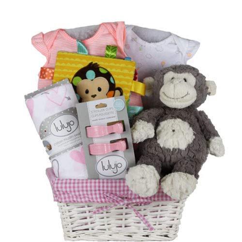 Vania's Baby Boy Gift Basket - Douglas Lamb Plush Toy, Baby Gift Sets for Baby Shower & Newborn Baby Essentials