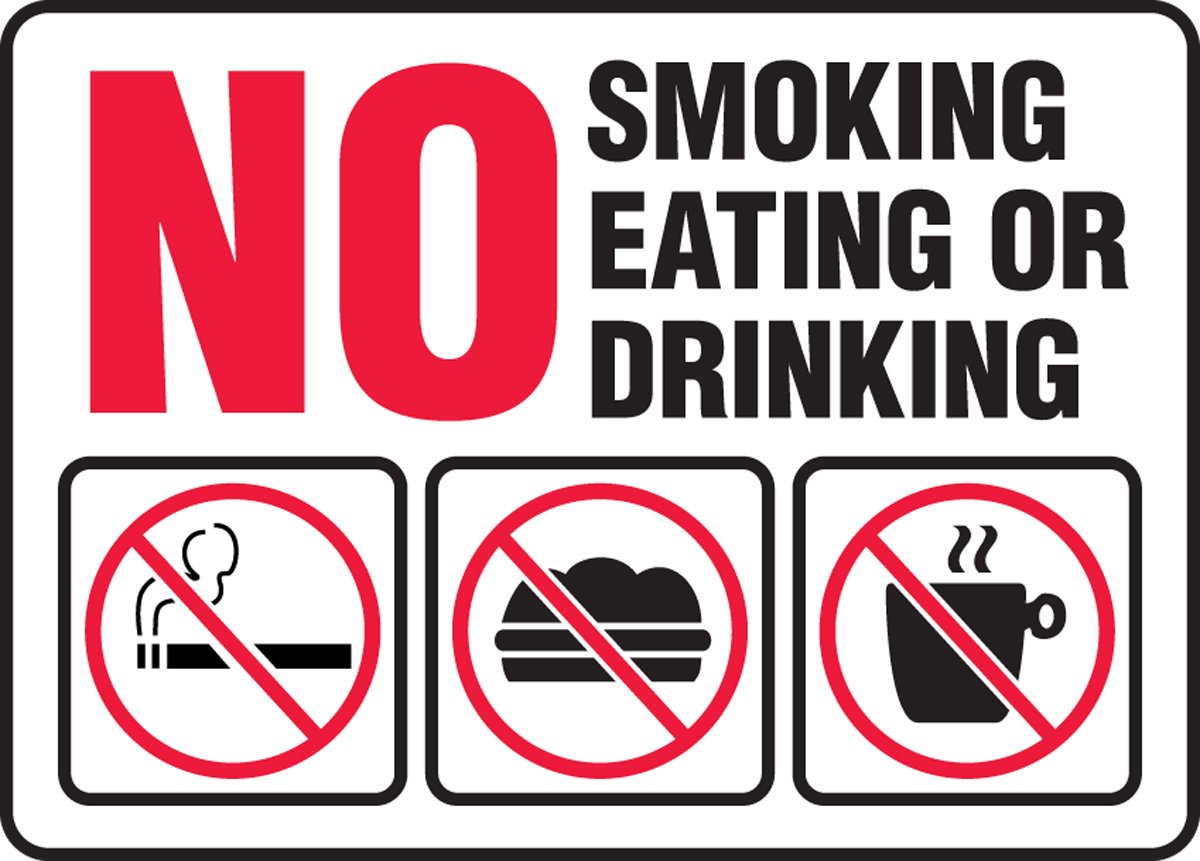 No Smoking Sign, Adhsv Vinyl, 10x14 In, Eng