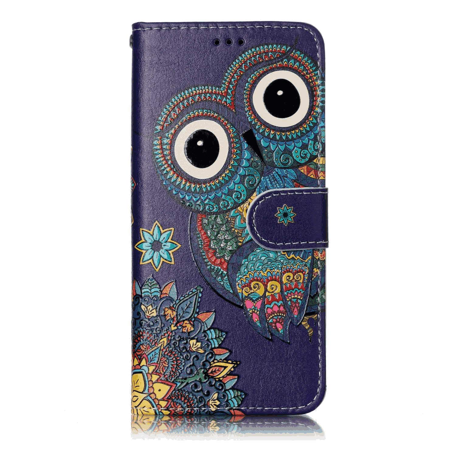 PU Leather Flip Cover Compatible with iPhone 11, Elegant Frog Wallet Case for iPhone 11