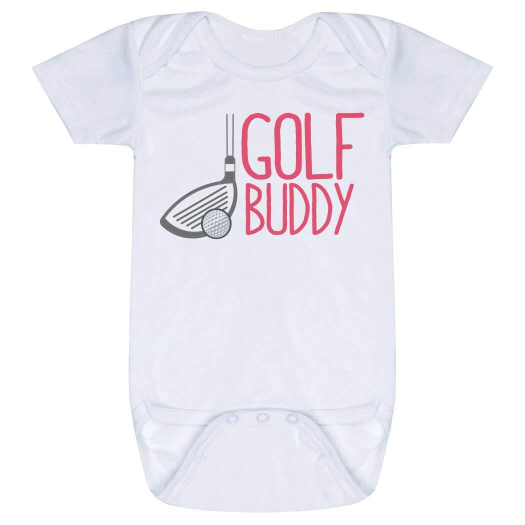 Golf Baby & Infant Onesie   Golf Buddy   Pink   One Piece Newborn