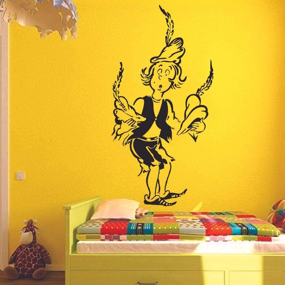 Dr. Seuss 500 Hats of Bartholomew Cubbins Wall Sticker Art Decal for Girls Boys Kids Room Bedroom Nursery Kindergarten House Fun Home Decor Stickers Wall Art Vinyl Decoration Size (10x8 inch)