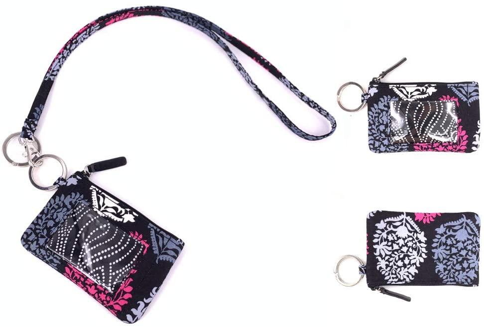 DONGGANGAJI Lanyard with Zip Id Case (Black-A672)