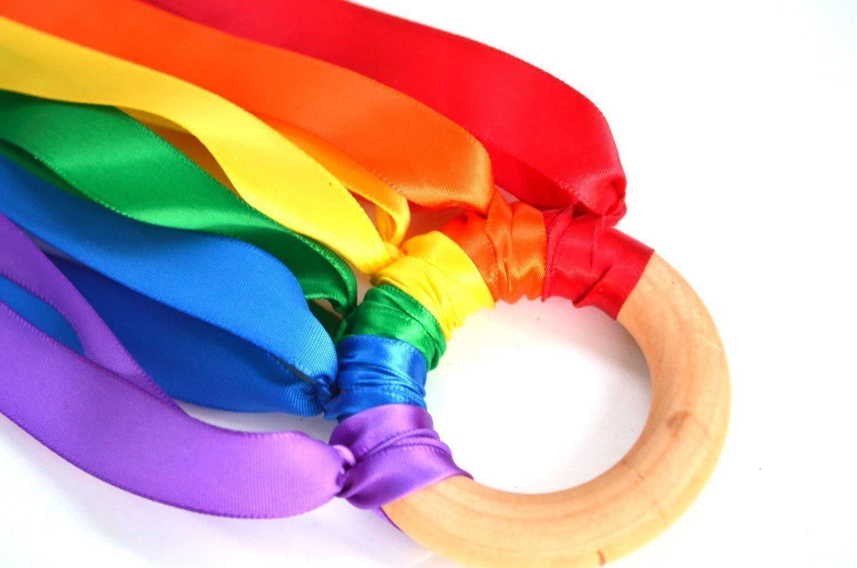 Rainbow Hand Kite Ribbon Runner Party Favor