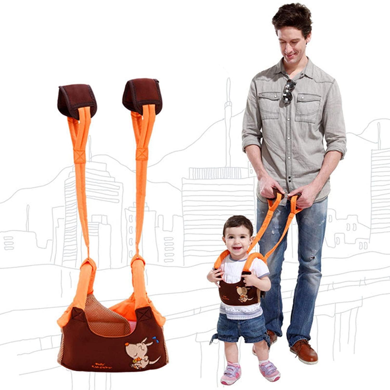 VASTAIR Baby Walking Harness Adjustable Baby Walking Assistant Toddler Walking Harness Handle Standing Up and Walking Learning Helper Toddler Walking Protective Belt(Coffee)