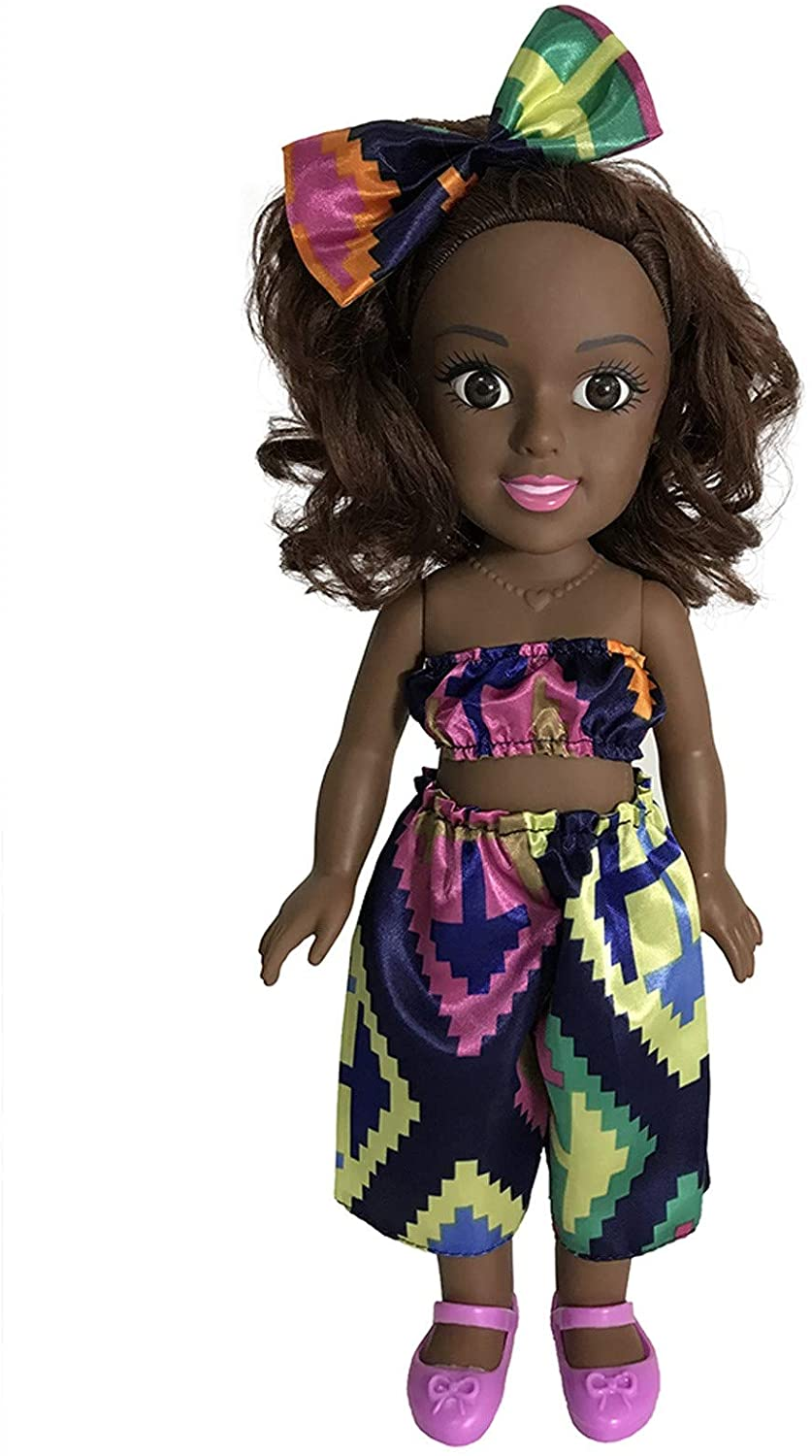 Meyerlbama African Doll Toy Black Doll Best Gifts Toy Baby Movable Joint