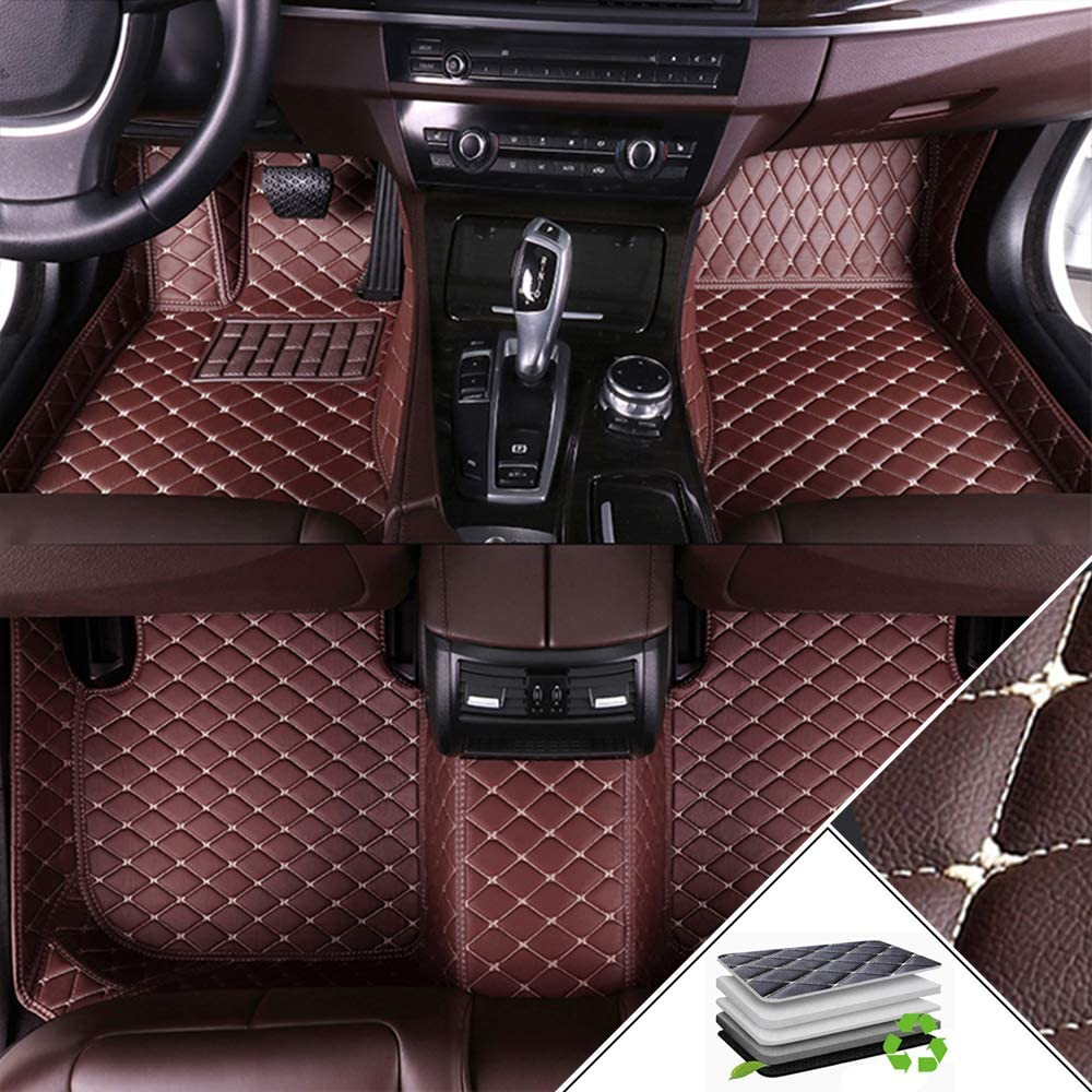 Handao-US Custom Car Floor Mats for Subaru Outback 2015-2019 Full Coverage All Weather Protection Front & Rear Liner Set Coffee