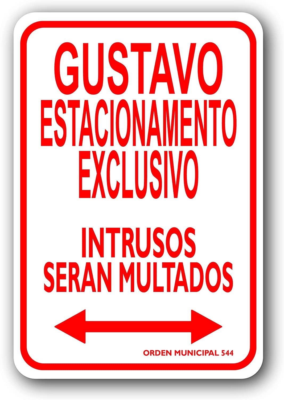 Gustavo Estacionamento Exclusivo 6 x 9 Spanish/Latino Personalized Parking Sign
