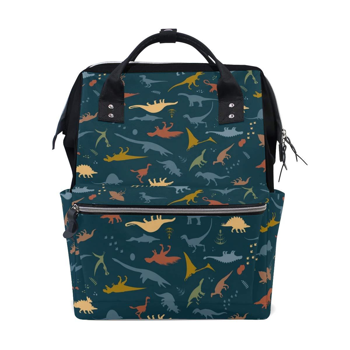 MERRYSUGAR Diaper Bag Backpack Travel Bag Large Multifunction Waterproof Dinosaur Animal Stylish and Durable Nappy Bag for Baby Care School Backpack