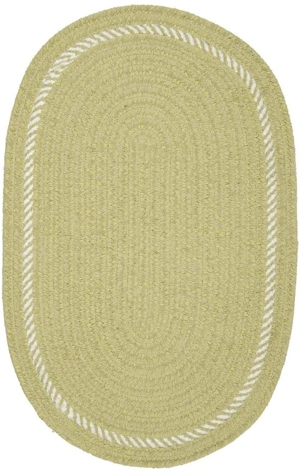 Colonial Mills Surroundings Chenille Nursery Rug Sprout Green 12' x 15' Oval 12' x 15'
