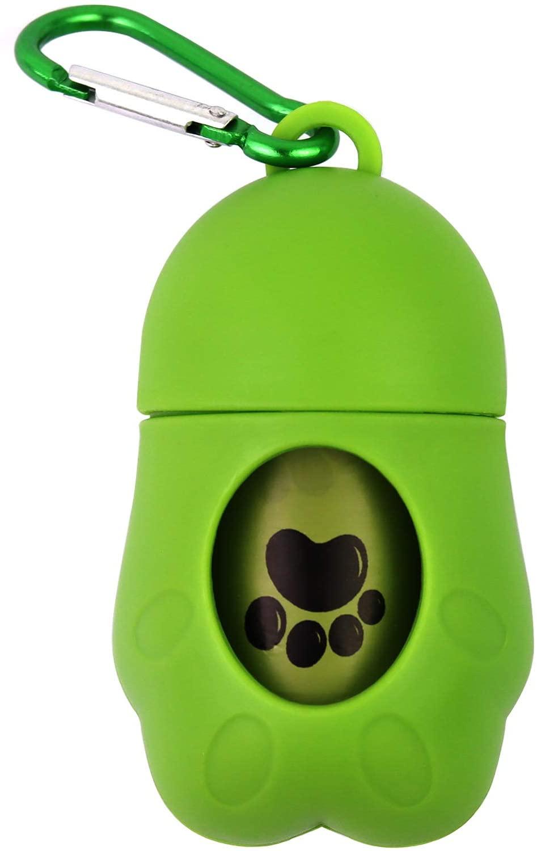 HaoDeng Poop Bag Dispenser - Includes 1 Roll (15 Bags) - Large, Earth-Friendly, Leak-Proof Pet Waste Bags