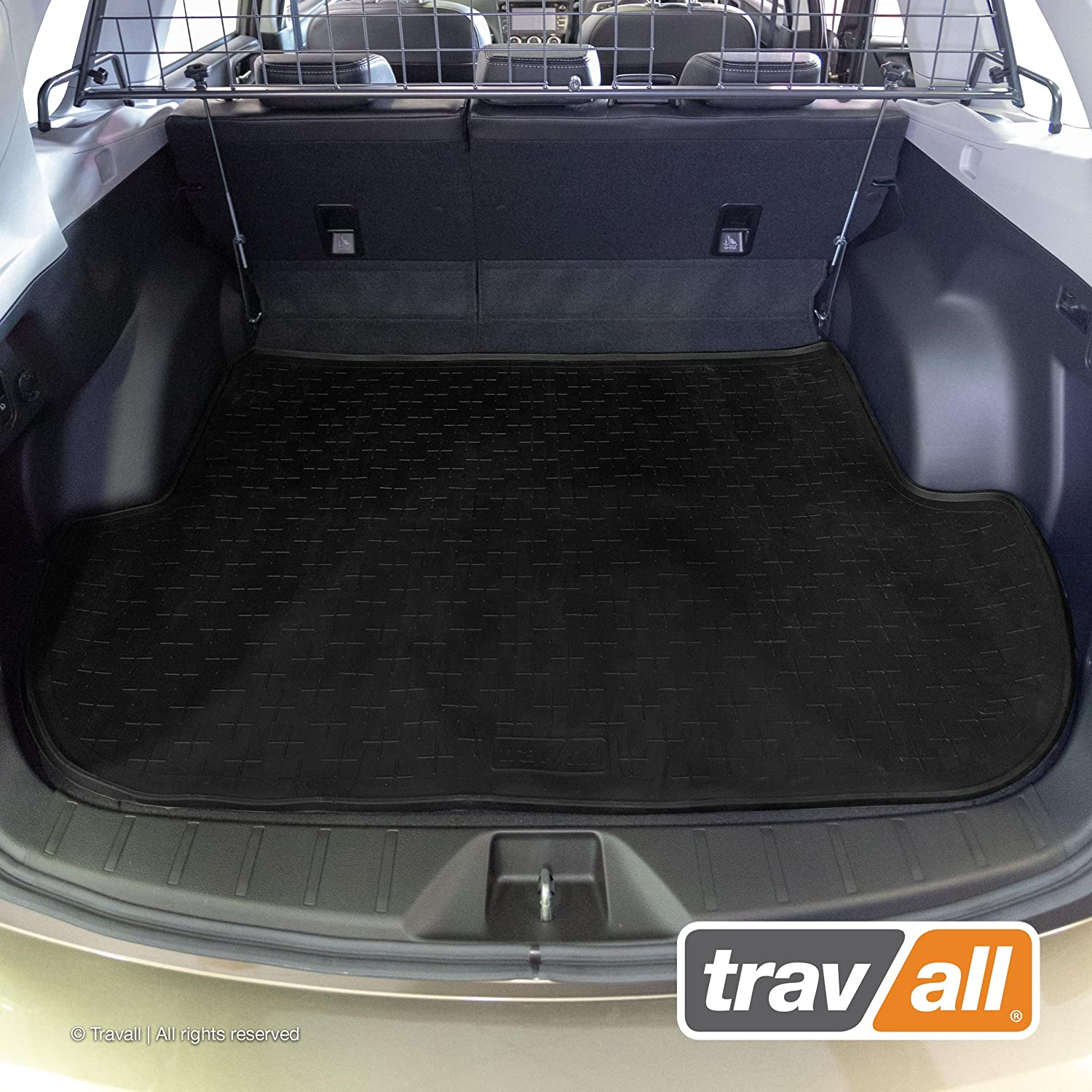 Travall Liner Compatible with Subaru Forester SJ (2012-2018) TBM1100 - All-Weather Black Rubber Trunk Mat Liner