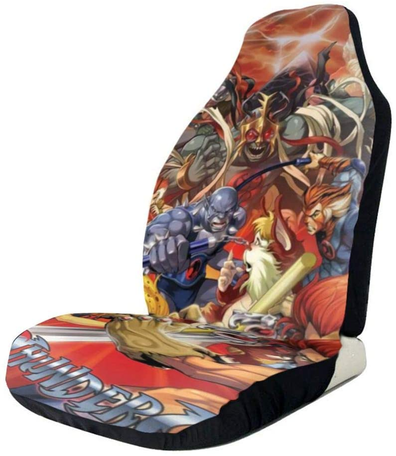 Xianhai Thundercats Animated Series Vehicle Seat Car Seat Protector Universal Type Car Cushion Cover Car Seat Cover Suitable for Most Cars Black 1 Pcs